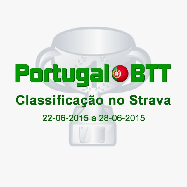 Classificação do Portugal BTT no Strava (22-06-2015 a 28-06-2015)