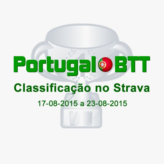 Classificação do Portugal BTT no Strava (17-08-2015 a 23-08-2015)